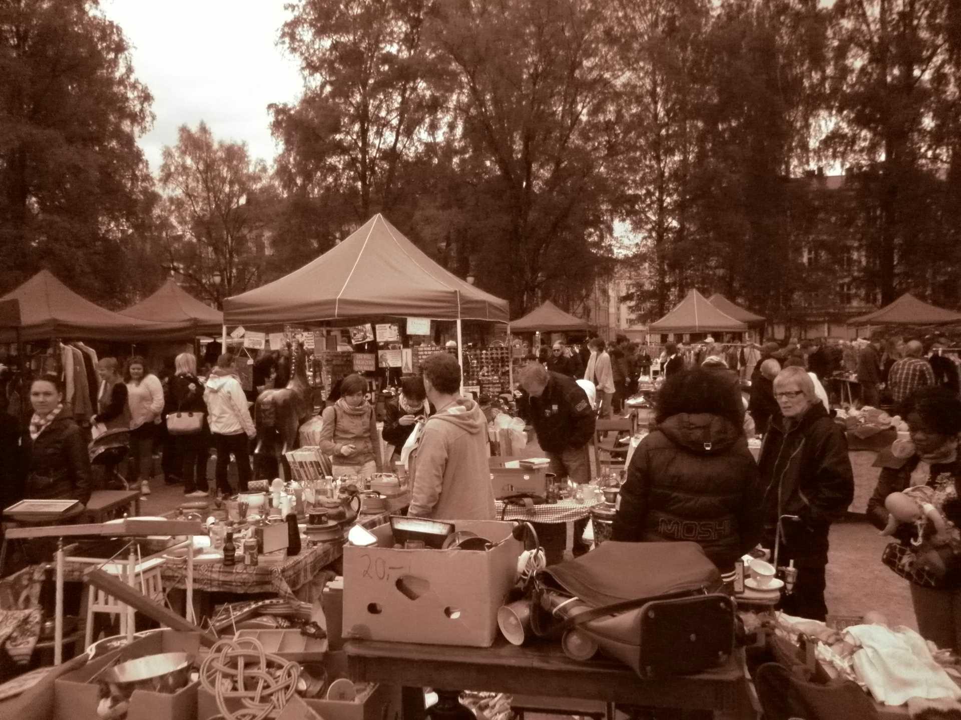 Il mercato delle pulci di Grunerløkka