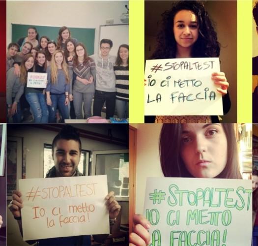 #stopaltest: gli studenti protestano mettendoci la faccia