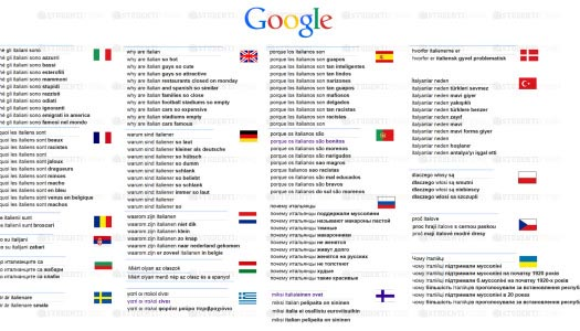 """""""Perché gli italiani sono…?"""" Come ci cercano all'estero su Google"""