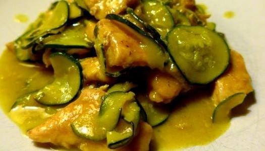 Petto di pollo alle zucchine