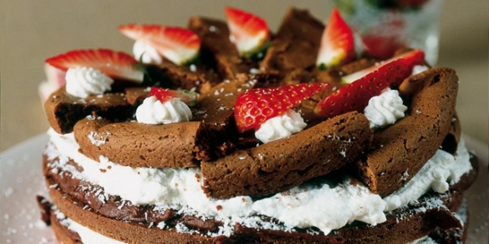 Torta cioccolato panna e cocco