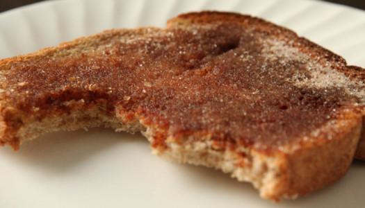 Colazione dei campioni: toast al burro con zucchero a velo!
